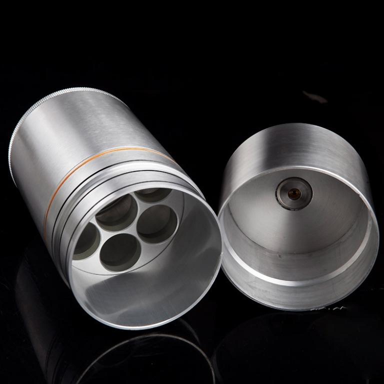 Hộp đựng chống ẩm Cigar Cohiba 7 ống đựng màu bạc
