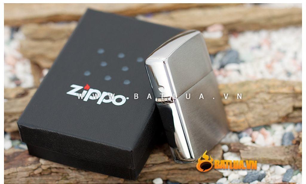 Bật lửa Zippo chính hãng 162 Bạc xước Amor