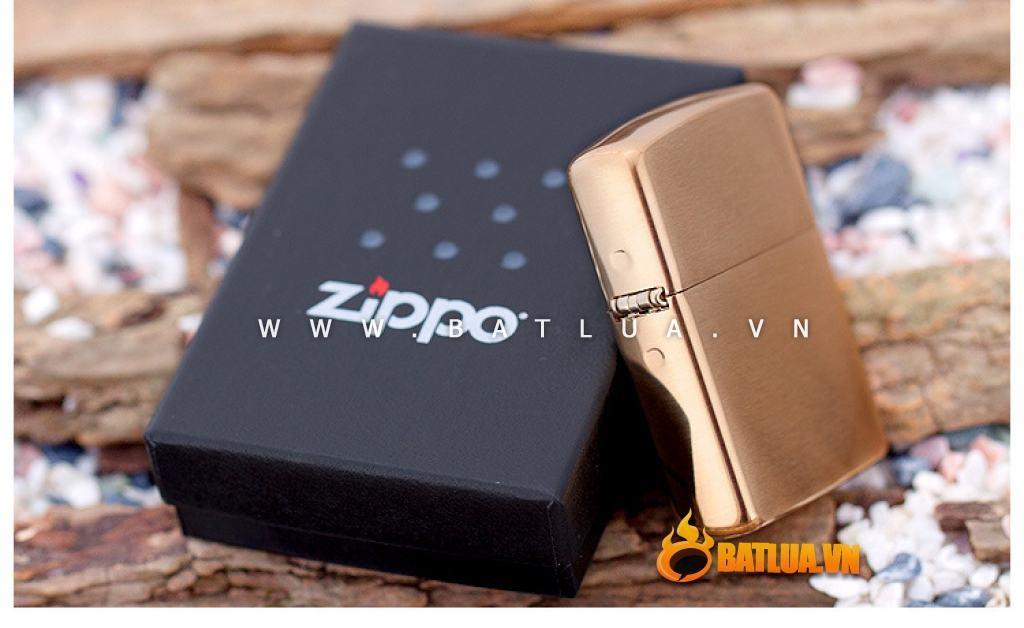 Bật lửa Zippo chính hãng 168 vàng xước Amor