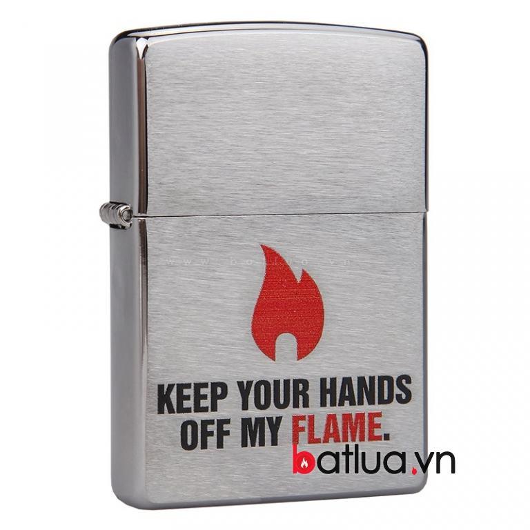 Bật lửa zippo chính hãng Mỹ phiên bản ngọn lửa chrome