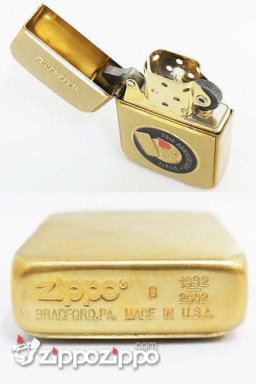 ZIPPO CỔ VỎ ĐỒNG KỶ NIỆM 70TH 1932-2002