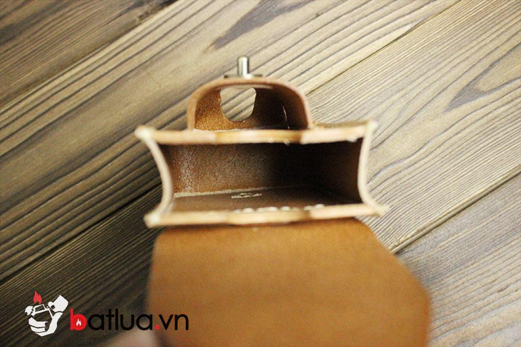 Bao da Handmade đựng zippo và thuốc lá Màu Da