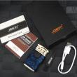 Bật Lửa Điện Cảm Ứng Chống Gió Tia Lửa Vòng Cung Kép Sạc USB Cao Cấp Zhongbang ZB170B Màu Tím