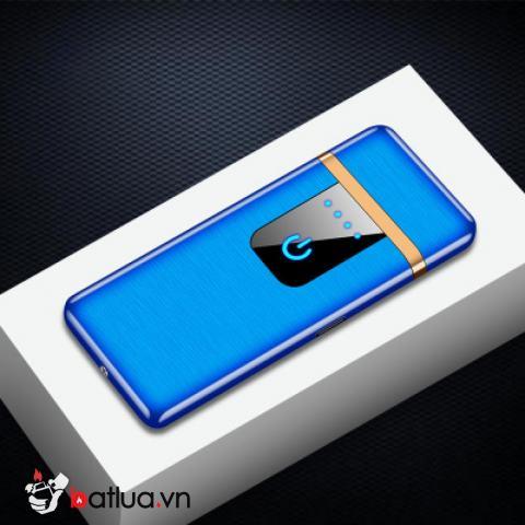 Bật lửa điện cảm ứng sạc USB TH767 màu xanh