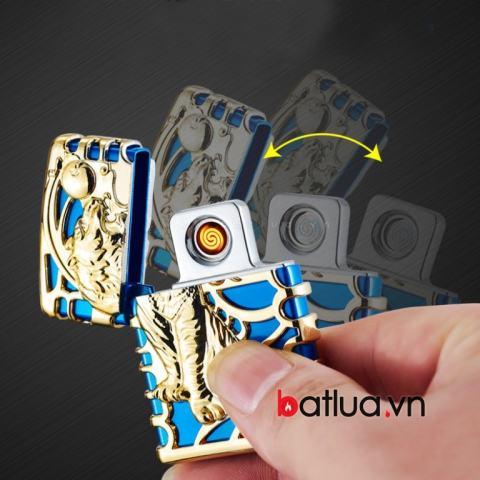 bật lửa sạc pin USB lắc tay nhỏ gọn sang trọng