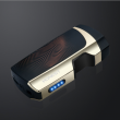 Bật Lửa HONEST Tia Lửa Điện  CẢm Ứng Vân Tay Sáng Tạo Sạc USB Màu Đen