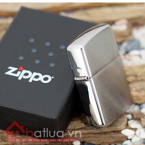 Bật lửa Zippo chính hãng Bạc xước Amor