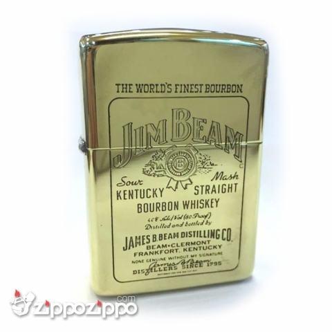 Zippo cổ Jimbeam vỏ đồng thau nguyên chất sản xuất năm 1995