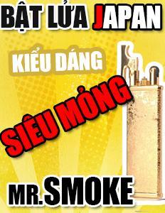 Bật lửa siêu mỏng đến từ Nhật Bản Mr Smoke